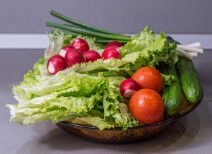 ירקות כחלק מהדיאטה